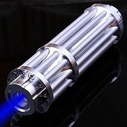 Лазерная пушка синяя 20000 mW + 5 насадок Меч Джедая