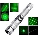Лазерная указка зеленая 1000 mW + 4 насадки Power