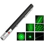 Лазерная указка зеленая 200 mW + 5 насадок
